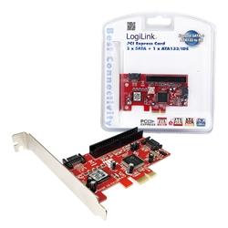 LogilLink Controlador PCIe SATA2 + ATA IDE - PC0003A - 1060126