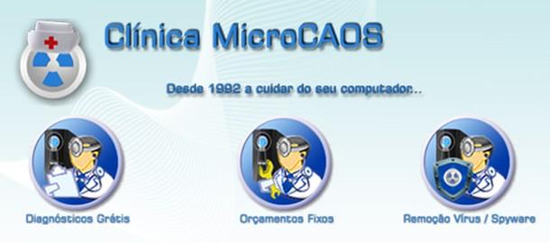 Clinica MicroCAOS - Reparação e Manutenção de Computadores