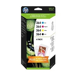 HP 364 CMYK Ink Cartridge Combo Content Pack - 1701815