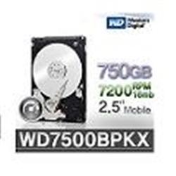 """Western Digital Black HDD 750GB 2.5"""" 16mb SATA WD7500BPKX - 1101159"""