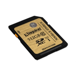 Kingston SD Card 512GB Classe 10 UHS-I Ultimate SDA10/512GB - 8000251