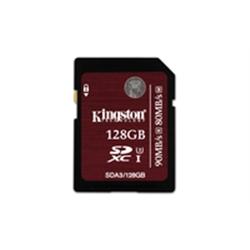 Kingston SD Card 128GB UHS-I Class 3 SDA3/128GB - 8000248