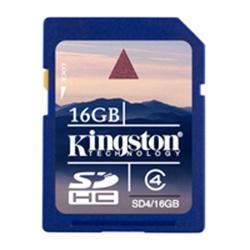 Kingston SD Card 16GB Alta Capacidade classe 4 SD4/16GB - 8000242