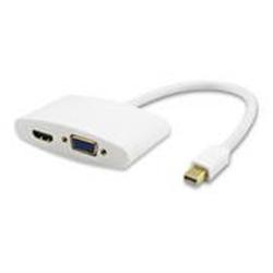 ADAPTADOR MINI DP > HDMI F + VGA F, BRANCO, 0.25M - 1351390