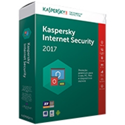 KASPERSKY INTERNET SECURITY 2017 MD 3 USER RETAIL - 3000074