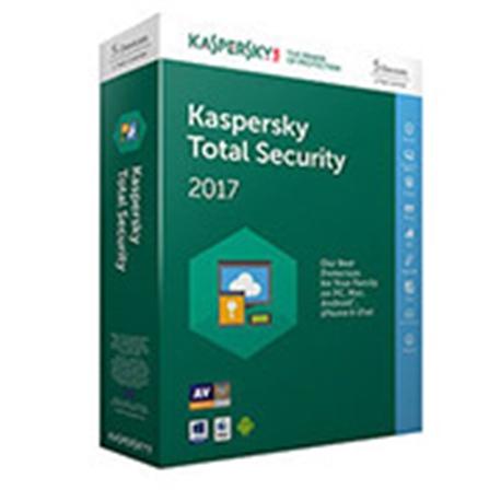 KASPERSKY TOTAL SECURITY 2017 5 USER RETAIL - 3000070