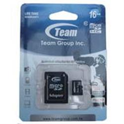 TeamGroup MICRO SDHC 16GB CLASS 10 TEAM C/ ADAPTADOR SD - 8000252