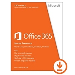 Microsoft Office 365 Home 32-bit/x64 All Languages 1 ano - 3100034