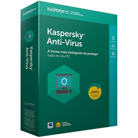 KASPERSKY ANTIVIRUS 1 USER 1Y RETAIL - 3000081