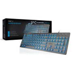 MKPLUS TECLADO SLIM ILUMINADO, USB - TG8120EPIC - 1130017
