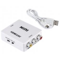 Conversor 1xHDMI audio-video digital para 3xRCA audio-videoo - 1350115