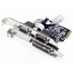 Controlador PCIE 2Portas RS232 SERIE + 1Porta LPT PARALELA - 1060002