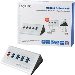 LogilinK HUB 5 portas USB 3.0 C/ Alimentação - UA0227 - 5600018