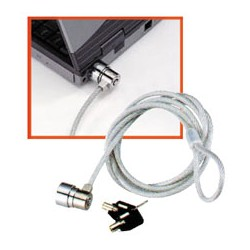 LINDY Notebook Security Cable Barrel Key Lock (20945)