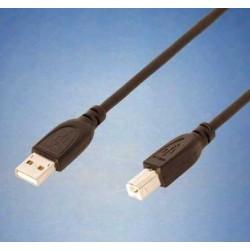 """Cabo USB 2.0 Tipo A-B 1.8Mt """"Preto"""""""