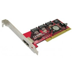 LINDY Controlador PCI SATA II 3 Portas + 1 eSATA (51136)