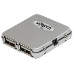 Lifetech Hub Mini Aluminium 4 Portas USB 2.0 (LFHUB003)