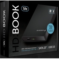 "1Life hd:book black 2.5"" SATA > USB 3.0 - 8100023"
