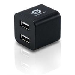 Conceptronic 4-ports Cube USB 2.0 Hub - Preto - 5600016