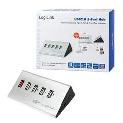 LogilinK HUB 5 portas USB 2.0 C/ Alimentação - UA0224 - 5600017