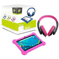 POV KIDS BUNDLE TABLET 748 + HEADPHONES ROSA + CAPA PROTEC - 1760347