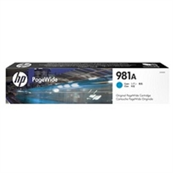 HP 981A Cyan Original PageWide Cartridge - 1701286