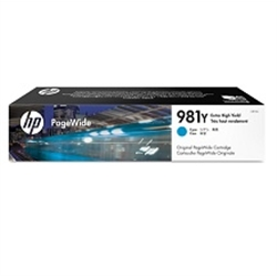 HP 981Y Extra High Yield Cyan Original PageWide Cartridge - 1701295