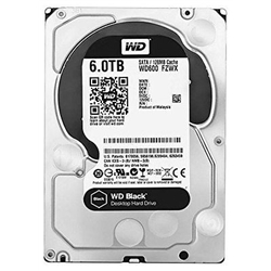 """Western Digital HDD 6TB Black 3.5"""" 128mb cache SATA 6 Gb/seg - 1101108"""