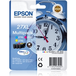 EPSON Multipack 3-colour 27XL DURABriteUltra C13T27154012 - 1701627